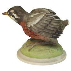 Signed Boehm Porcelain Bird Figure - First Venture