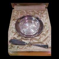 Fine French Ercuis Butter Dish Set In Original Presentation Box