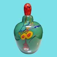 Signed Mad Art Perfume Bottle With Abstract Design - 1998