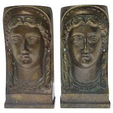 A Pair of Antique ARCHITECTURAL Brass or Bronze Embellishments Roman Greek