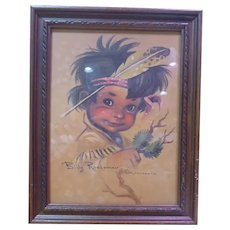 Adorable Vintage Print of Billy Roadrunner by Monteague - Garden Of The Gods 1962 on back