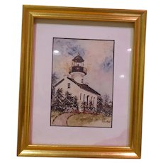 Lighthouse Limited Edition Print by Laura M. Batt
