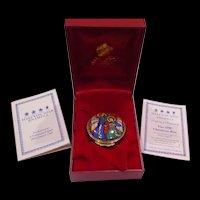 1998 Bilston & Battersea Halcyon Days Annual Christmas Box In Original Presentation Box