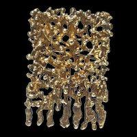 Sterling Silver Pendant Brooch by Aharon Bezalel of Israel