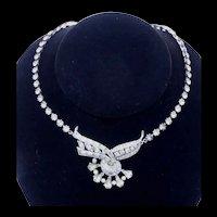 Beautiful Signed Engel Brothers Vintage Rhinestone Necklace