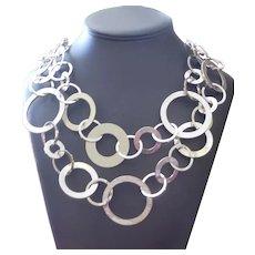 Bold SIGNED RJ GRANZIANO Interlocking Circles Necklace