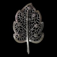 Sterling Silver Brooch by Jewelart - Wear As Christmas Tree or Leaf!