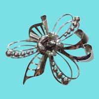 Signed Carl Art Sterling Silver Brooch With Atomic Flair