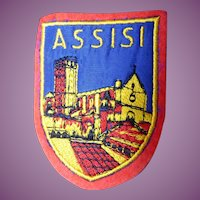 Vintage Woven Assisi Italy Travel Patch