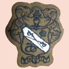 Vintage Woven College Fraternity Sigma Nu Epsilon Tau Tau Crest Patch
