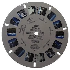 Vintage View Master Viewmaster Reel 102 Rocky Mt National Park