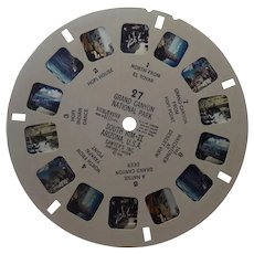 1948 View Master Reel 27 Grand Canyon National Park South Rim 2 Arizona