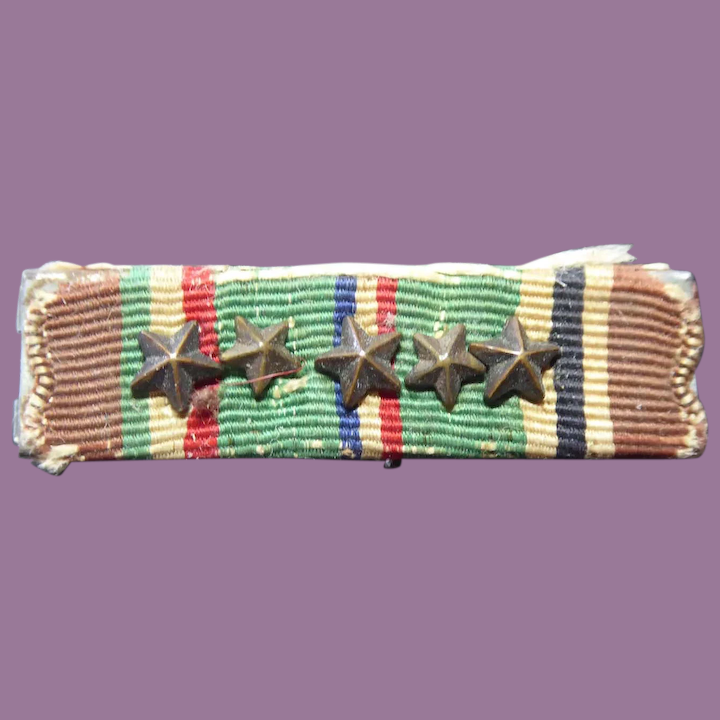 EUROPE AFRICIA MIDDLE EAST CAMPAIGN RIBBON BAR K9