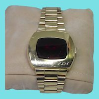 James Bond 1970s P2 Hamilton Pulsar Wristwatch 14K Gold Filled Works