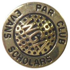Vintage 1/0 10K Gold WGA Pin Par Club Evans Scholars Golf Women's Sports WGAESF