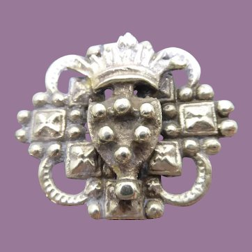Antique Sterling Silver Brooch Medici Coat of Arms