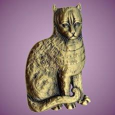 Vintage Signed Folger Shakespeare Library Cat Brooch