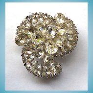 Gorgeous Vintage Rhinestone Brooch - Signed Weiss