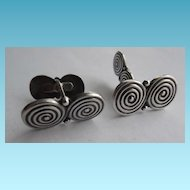 Denmark Sterling Silver Cufflinks Signed SC