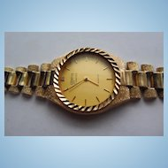 Solid 10K Gold Watch Band With Geneve Classic Watch - Or Can Use For Your Own Watch