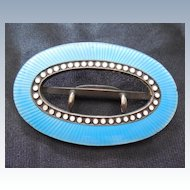 Art Deco Era Sterling Silver And Enamel Buckle - Early David Andersen Mark
