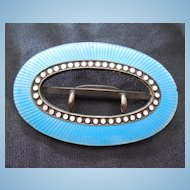 Art Deco Era Sterling Silver And Enamel Buckle - Early David Andersen Mark