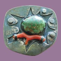 American Modernist Studio Brooch Signed and Dated 1965