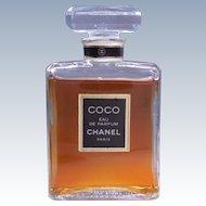 Vintage Coco Chanel Eau De Parfum 1.7 Fl Ounce - Glass Bottle and Stopper