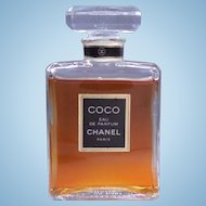 Vintage Coco Chanel Eau De Parfum 1.7 Fl Ounce - Glass Bottle and Stopper