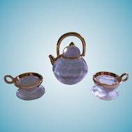 Retired Swarovski Crystal Memories Teapot and Teacups