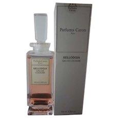 Sealed Bellodgia Eau de Cologne by Caron 3.38 oz Unused Full Bottle Estate Find