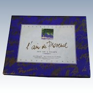 L'air de Provence Sculpted Honeysuckle Fine French Soap Ardecosm 3 Flower Bars in OB
