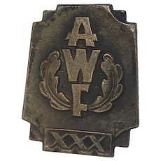 Rare Vintage AWF Pin Button From The Józef Piłsudski Academy of Physical Education