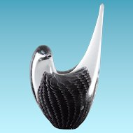 Fabulous Art Glass Bird - Sfumato Design Signed FM Konstglas Sweden