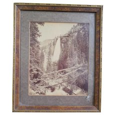 1890s William Henry Jackson Photograph of Bridal Veil Falls at Telluride Colorado