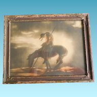Iconic End Of Trail Print by John Drescher circa 1920s in Original Frame - Vintage Wall Art