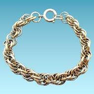 Vintage Multilink Charm Bracelet Signed Germany