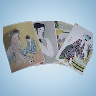 Collection of Japanese Ukiyo-E Floating World Prints by Utamaro
