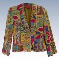 Vintage 1980's Emanuel Ungaro Parallele Jacket Size 6