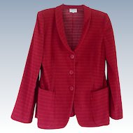Beautiful Vintage RedArmani Collezioni Blazer Jacket - Size 8