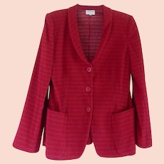 Beautiful Vintage Red Armani Collezioni Blazer Jacket - Size 8