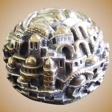 Signed Sterling Silver Vintage Paperweight Sculpture by Sam Philips Marked 925 - Noted Israeli Designer