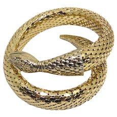 Beautiful Signed Whiting & Davis Iconic Mesh Snake Wraparound Bracelet
