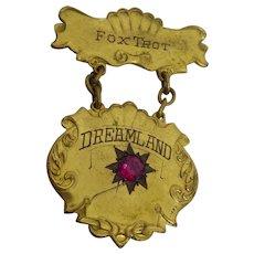Rare Antique Dreamland Foxtrot Dance Competition Medal