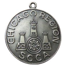 Rare Sterling Silver 1963 SCCA National Meeting Chicago Sports Car Club of America Fob
