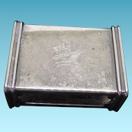 Antique Dragon or Griffin Engraved Match Book Holder by Fielding Silver Co