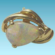 Vintage 14K Gold & Opal Earring - Estate Found Single Earring