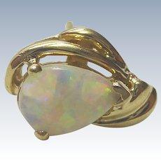 Vintage 14K Gold & Opal Earring - Estate Found Single Earring