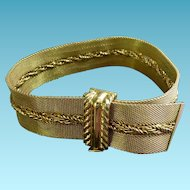 Fabulous Gold Plated Ribbon Bracelet by Grosse Germany - Dated 1959