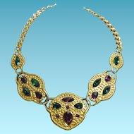 Fabulous Napier Byzantium Runway Necklace
